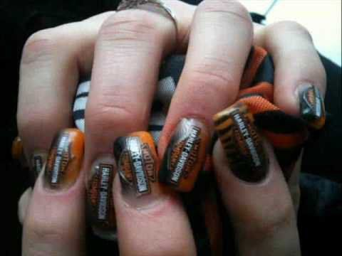Harley Davidson Biker Nails Women On Wheels Pinterest Bikers