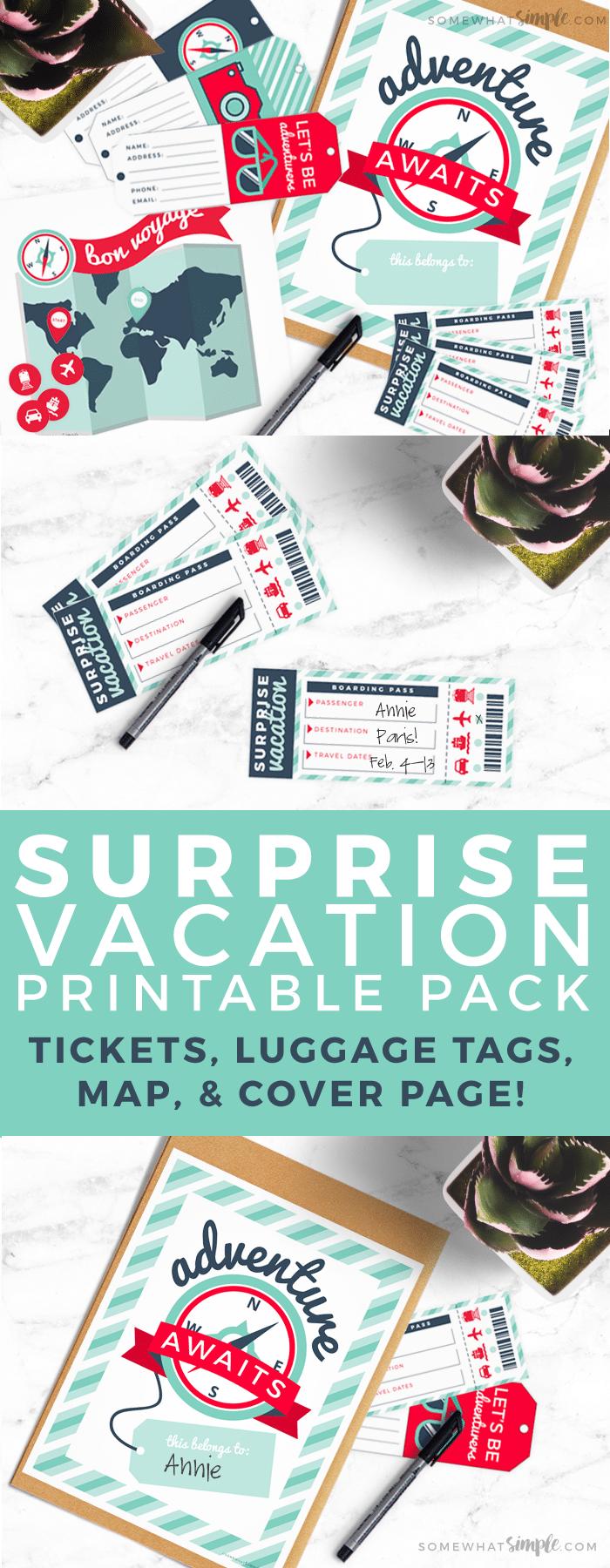 Surprise Vacation Reveal Gift Idea + Printable | Surprise ...