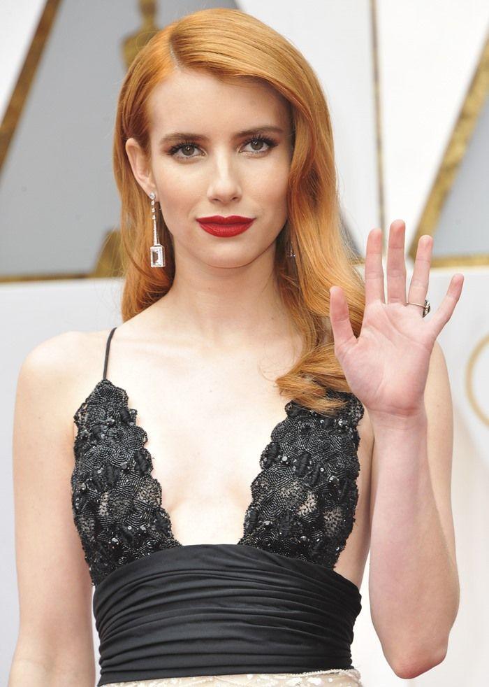 Emma Roberts accessorized with Atelier Swarovski jewels