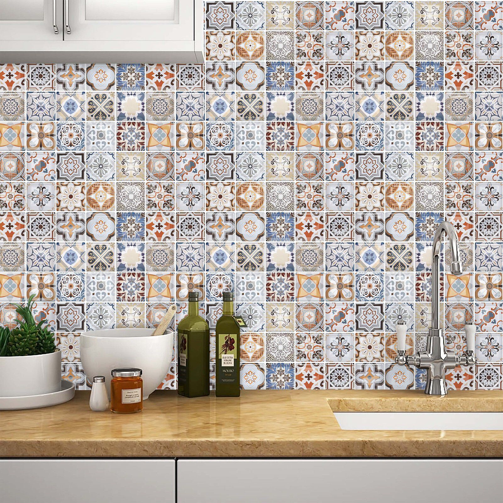 10 x 10 pvc peel stick mosaic tile