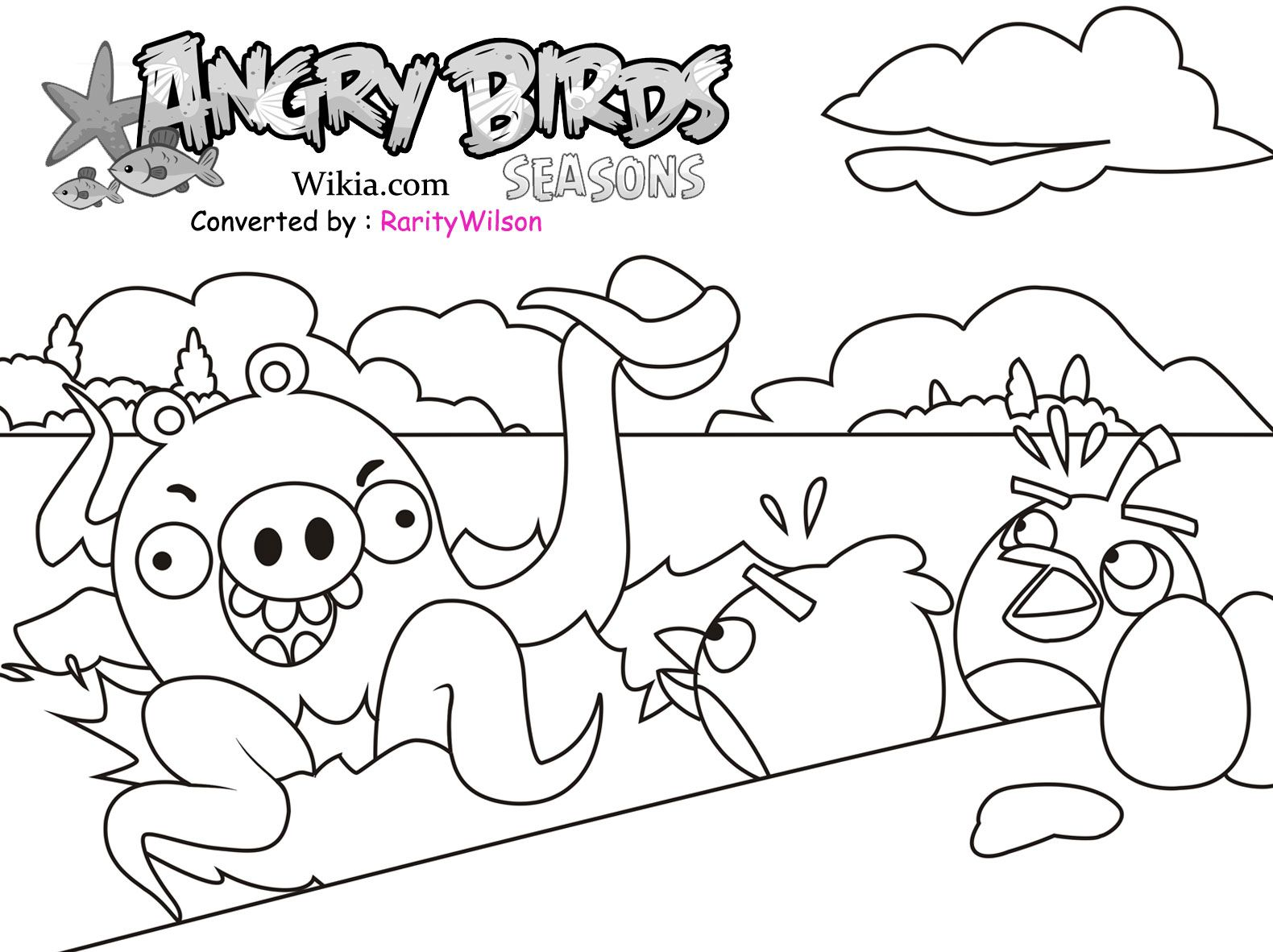 angry birds rio printables angry birds season coloring pages