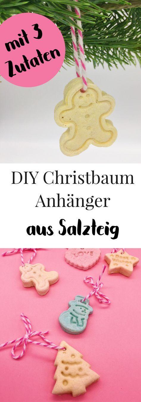 Weihnachtsdeko selber machen - Salzteig Rezept für Weihnachtsschmuck