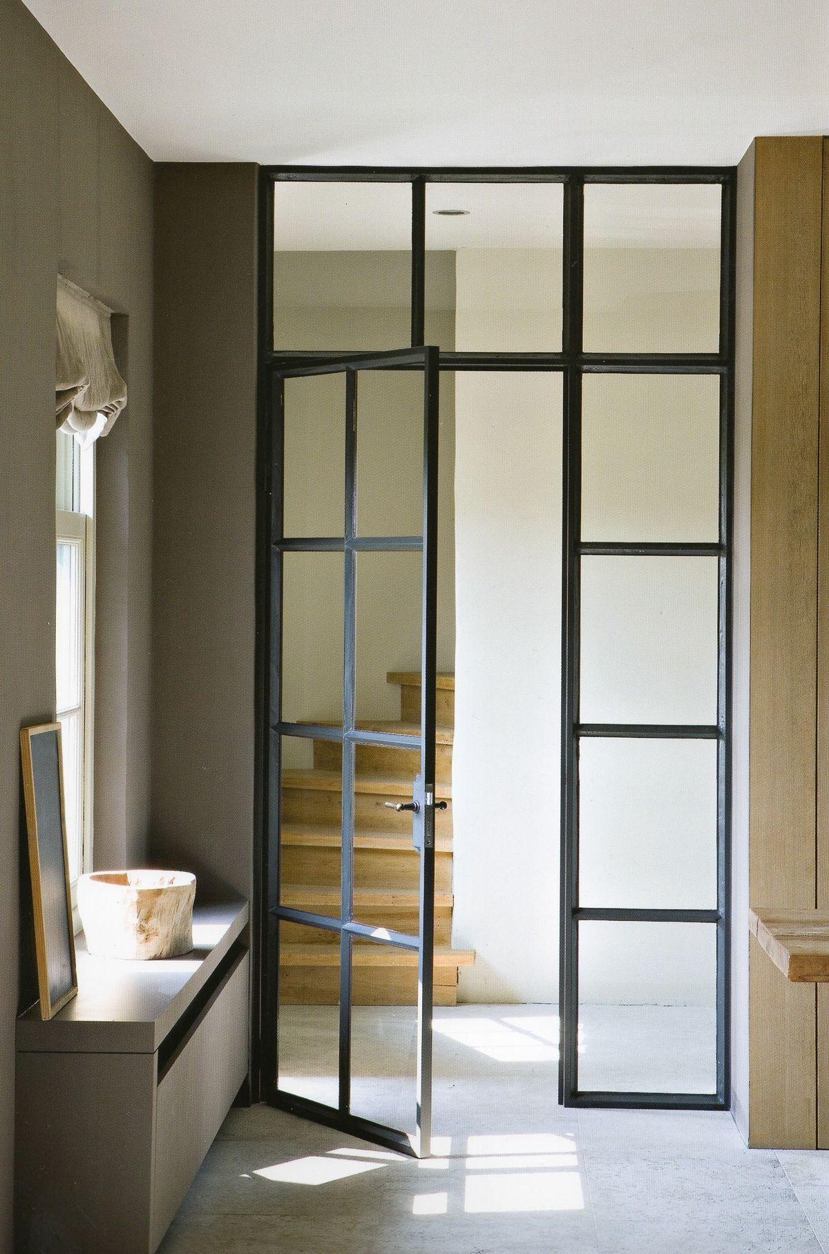 I Like This Steel Frame Door Perhaps Something Similar Between