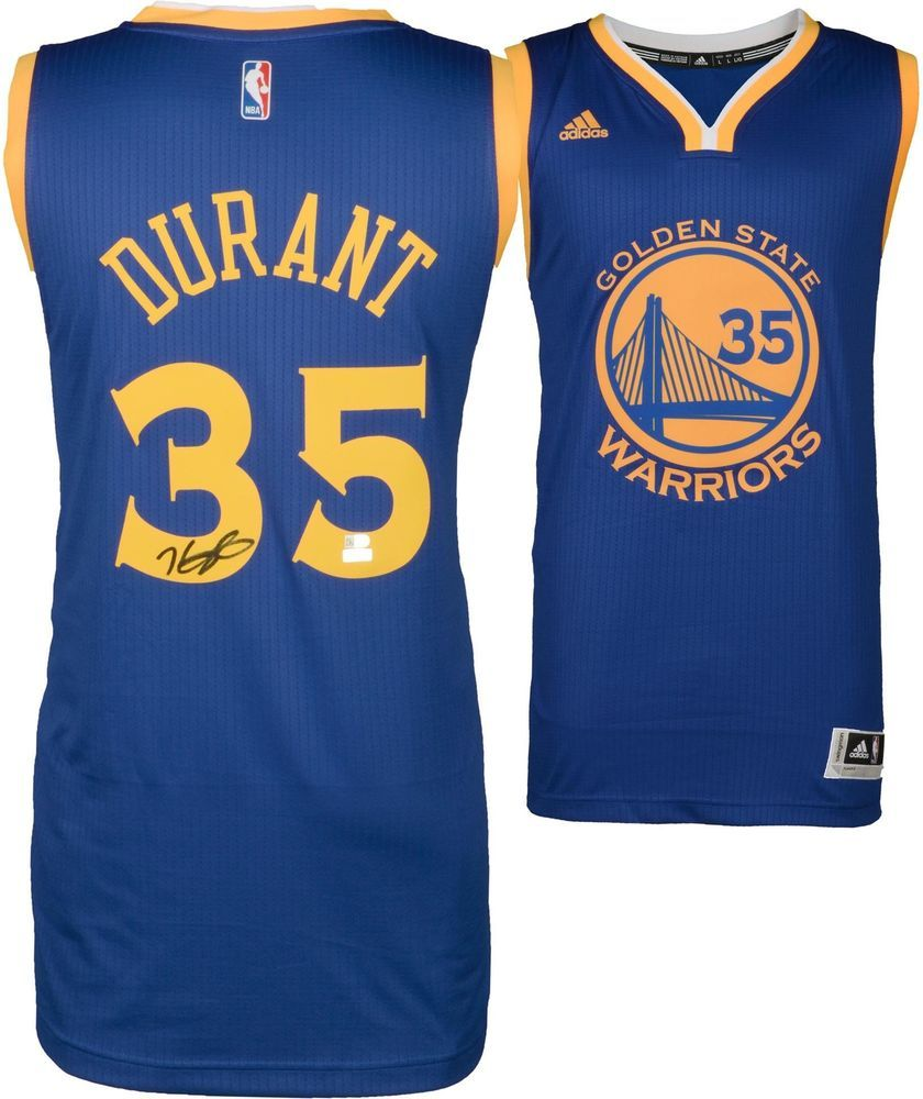 863746012a6 Kevin Durant Golden State Warriors Signed Blue Replica Jersey - Panini  Authentic