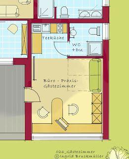w nde hoch b ro praxis g stezimmer sch ner wohnen pinterest bungalow mit. Black Bedroom Furniture Sets. Home Design Ideas