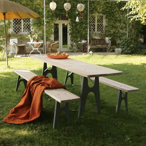 table de jardin bois metal | mobilier de jardin - mobilier ...