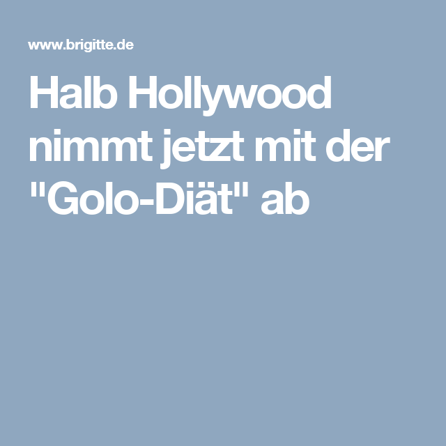 diät hollywood