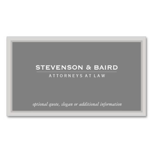 Elegant Gray Professional Consultant Classic Business Card - professional quotation template