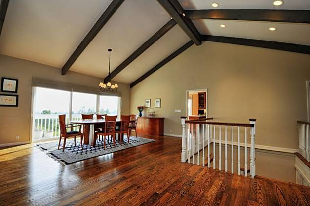 Faux beams for vaulted ceilings google search paint for Vaulted ceiling exposed beams