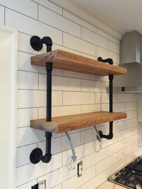 Gas Pipe Wall Shelf