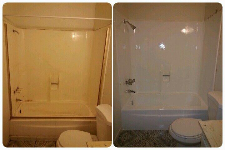 bathroom makeover reglaze bathtub