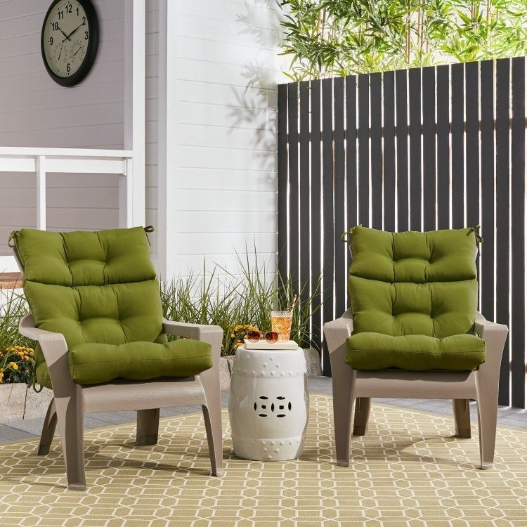Patio Chair Seat Cushions Set Of Two High Back Rectangle