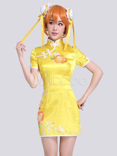 Hoshizora Rin Cheongsam Cosplay Costume - Milanoo.com 47b472f538c3
