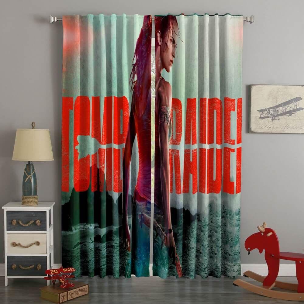 3D Printed Lara Croft Tomb Raider Style Custom Living Room Curtains
