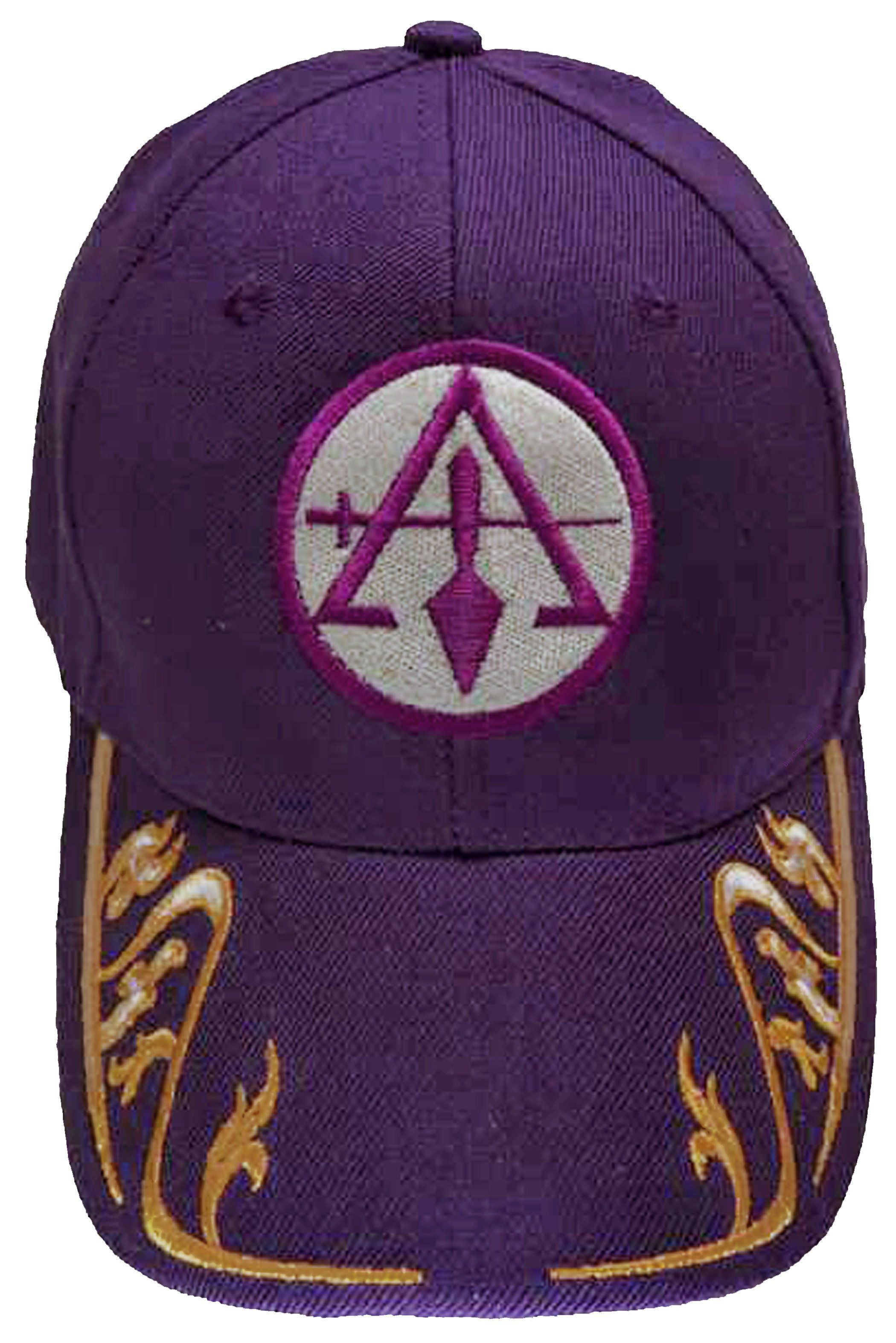 Council of Cryptic Masons Cap Mason Purple and Gold Hat