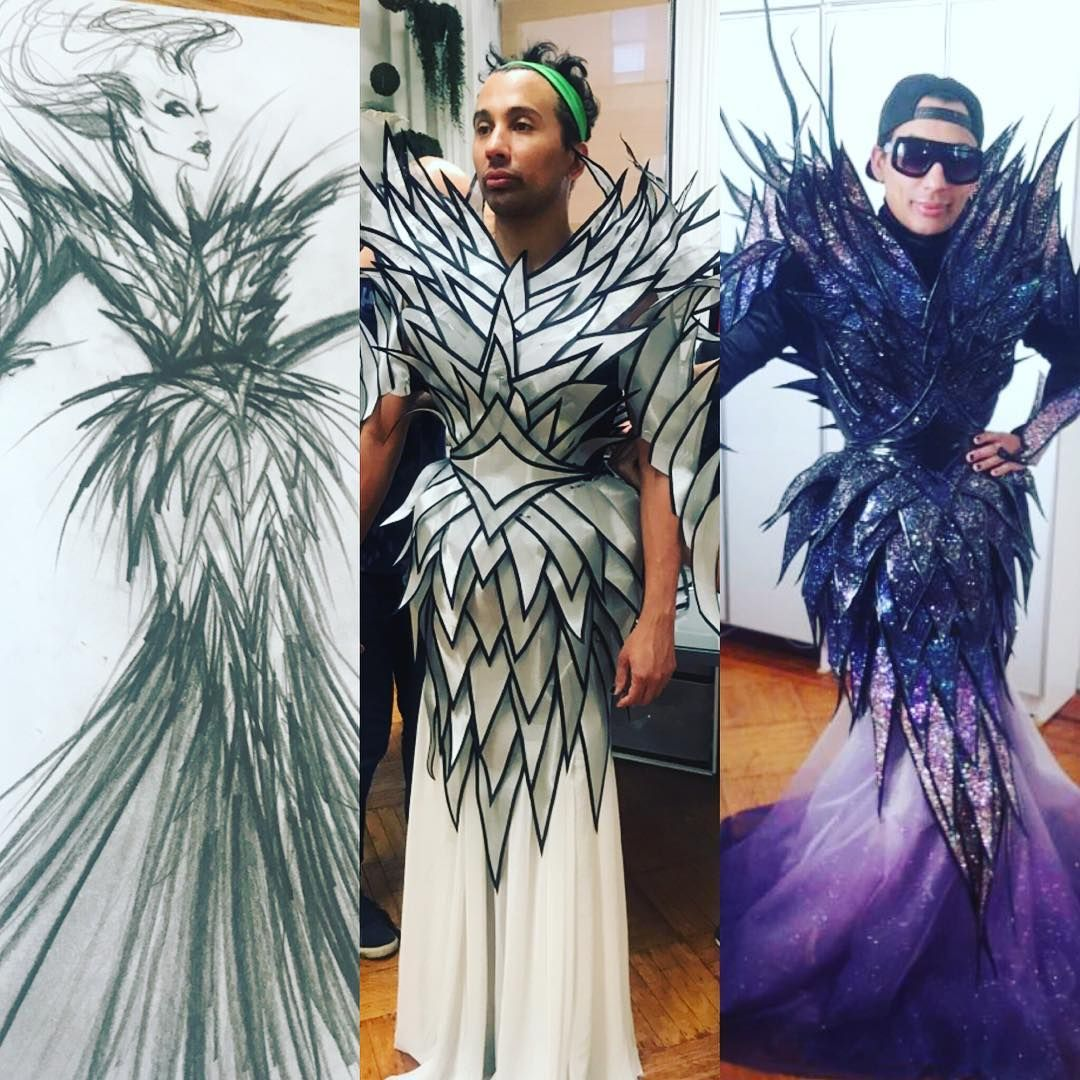 From Paper To Real Life Thank You Miodesignnyc For My Fabulous Hurricane Bianca Costume Talent Bianca Del Rio Fancy Costumes Costumes