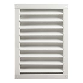 Master Flow 20 5 In X 26 375 In White Rectangle Aluminum Gable Vent Lowes Com Gable Vents Aluminum Wall Wall Vents