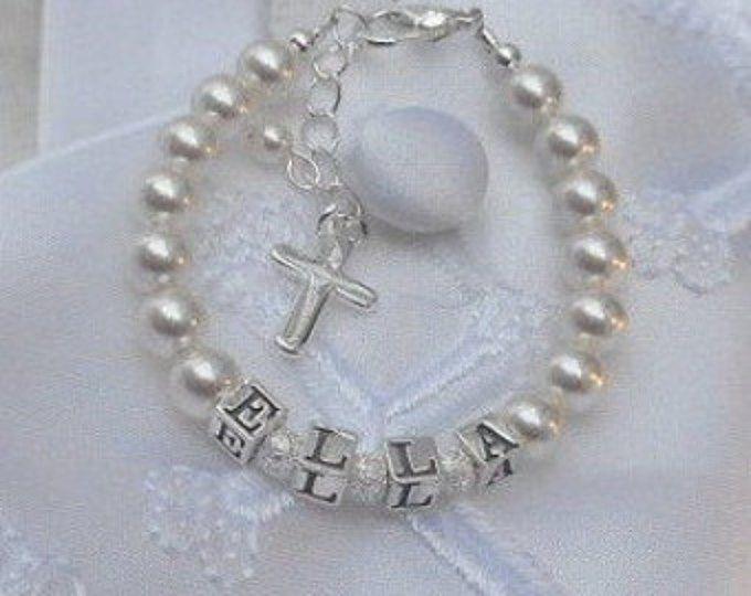Baby Baptism Gift Infant Bracelet Newborn Jewelry For Child