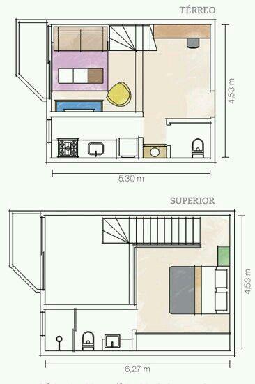 Pequeno Loft Tiny House PlansHouse