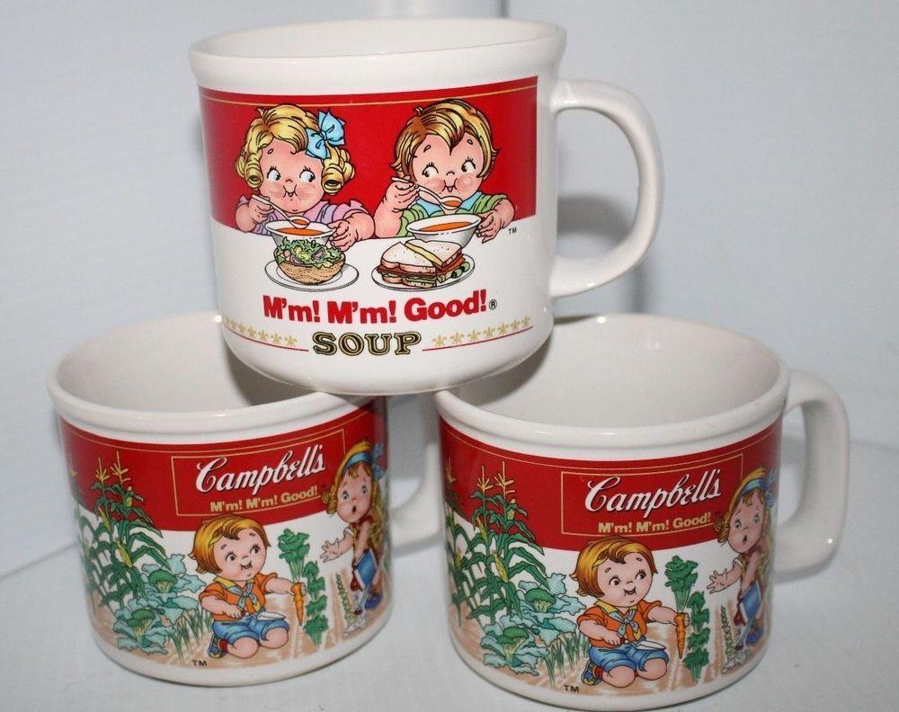 Campbells Soup Mugs Campbell Soup Kids Soup mug Coffee Mugs 1989 ...