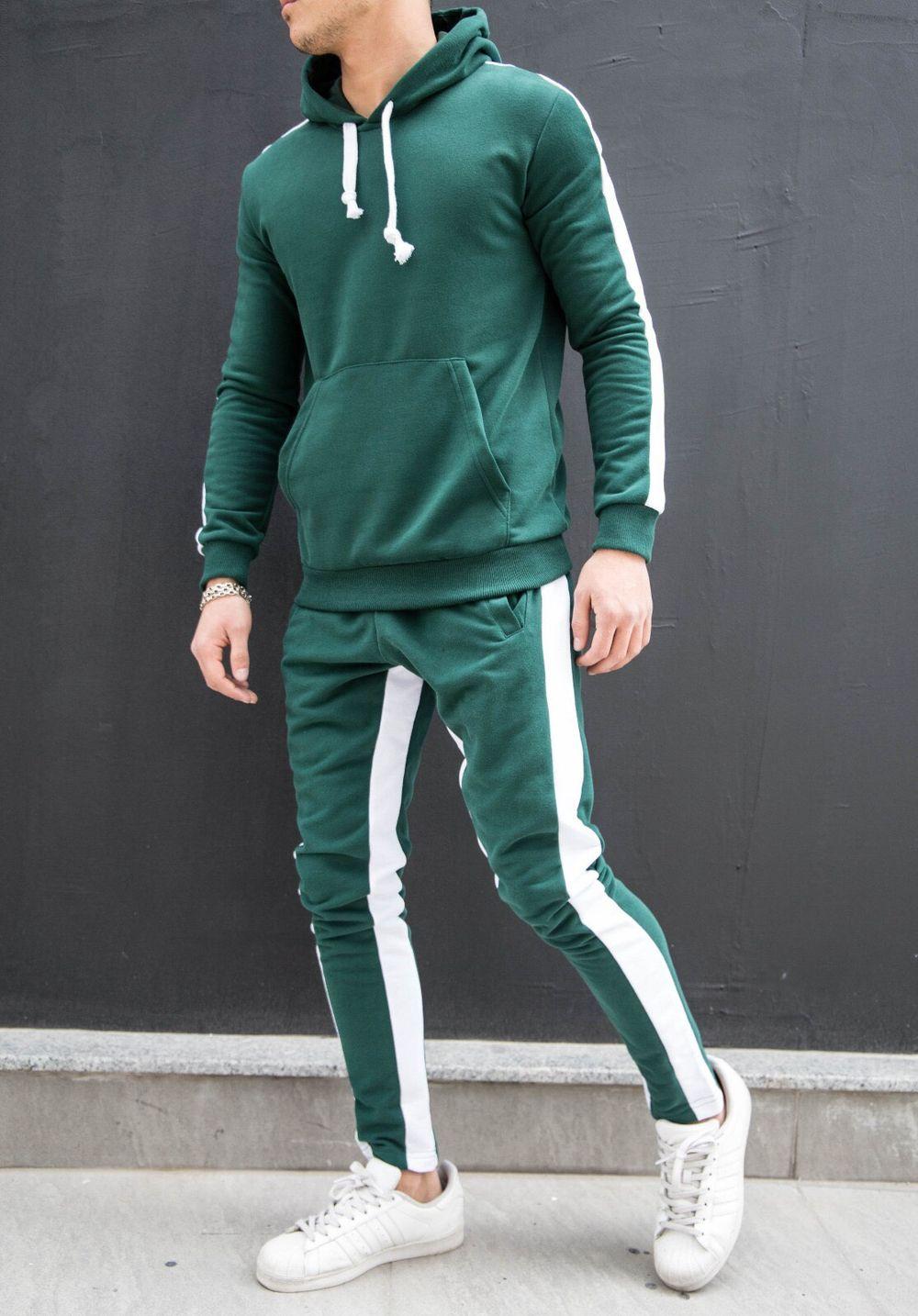 7d3d242e25a6 SNEAKERJEANS STREETWEAR SHOP   SNEAKERS SHOP - Green White Stripe Tracksuit  SJ239 Streetwear Tracksuits