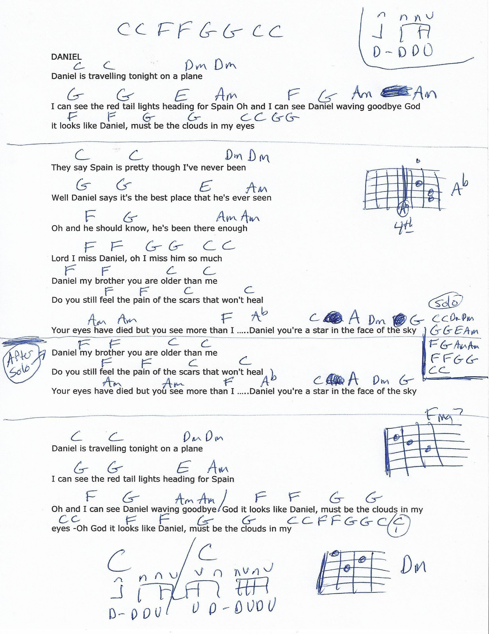 Daniel Elton John Guitar Chord Chart Guitar Lessons Pinterest
