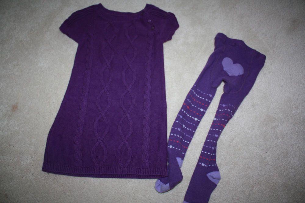 b7a0d104a Babygap girl size 3T purple sweater dress with matching …