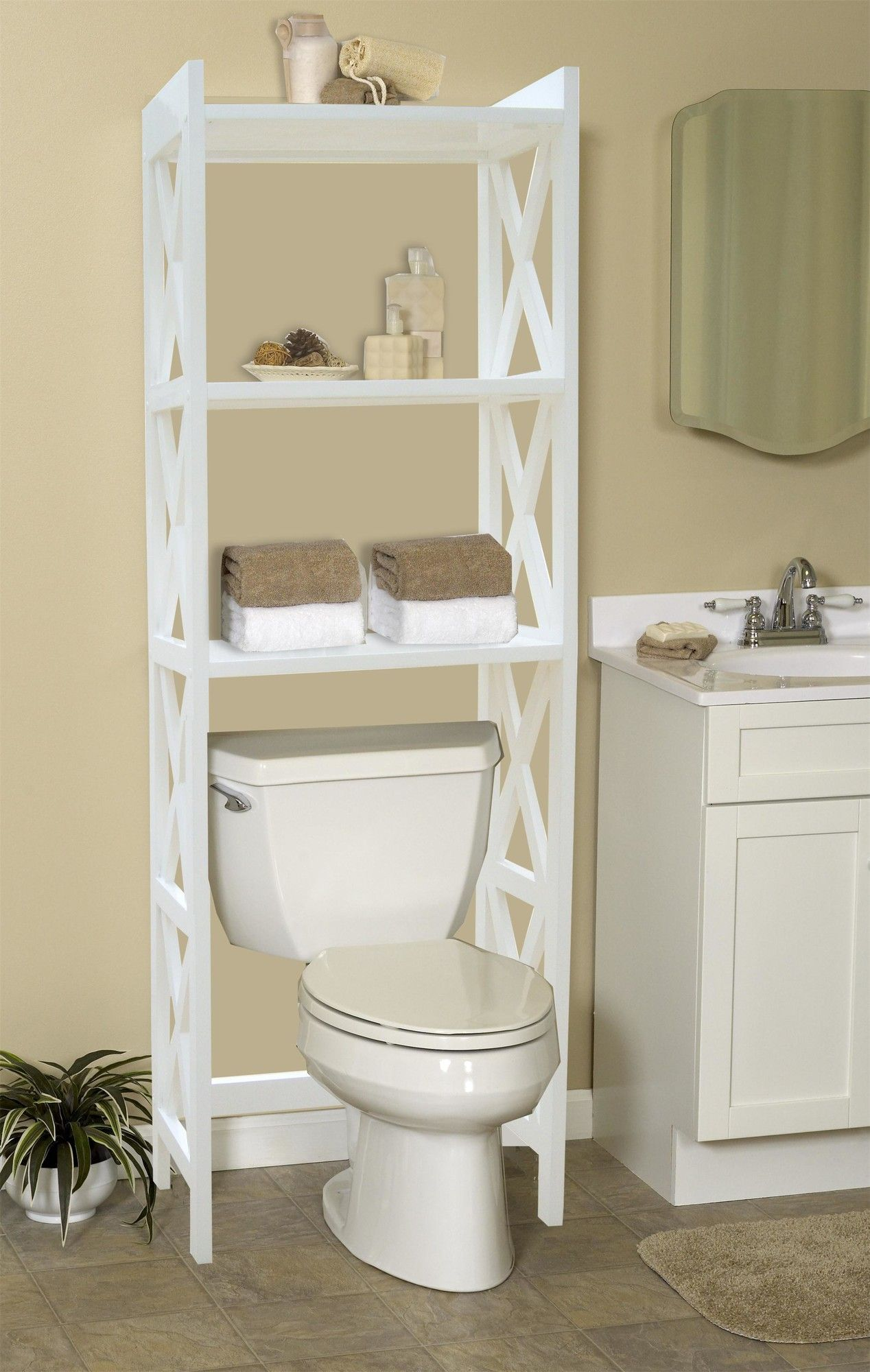 Bathroom Space Saver 24 5 W X 62 H Over The Toilet Storage Bathroom Space Saver Bathroom Space Toilet Storage