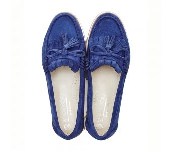 Haikon Hada Haikon Hada Afelpado Navi Mokasyny Buty Damskie Sperry Boat Shoe Boat Shoes Shoes