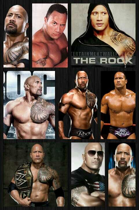 WWE The Rock Composite Photo Size: 8 x 10