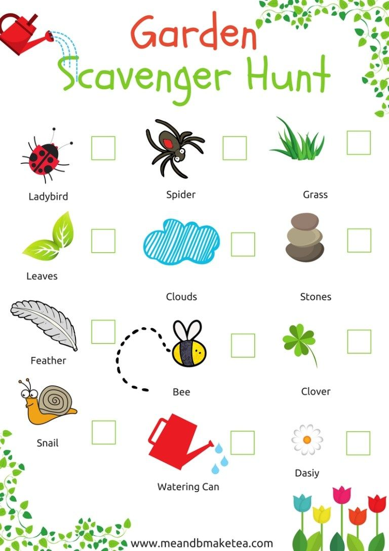 12 Simple Garden Projects And Ideas For Kids Scavenger Hunt For