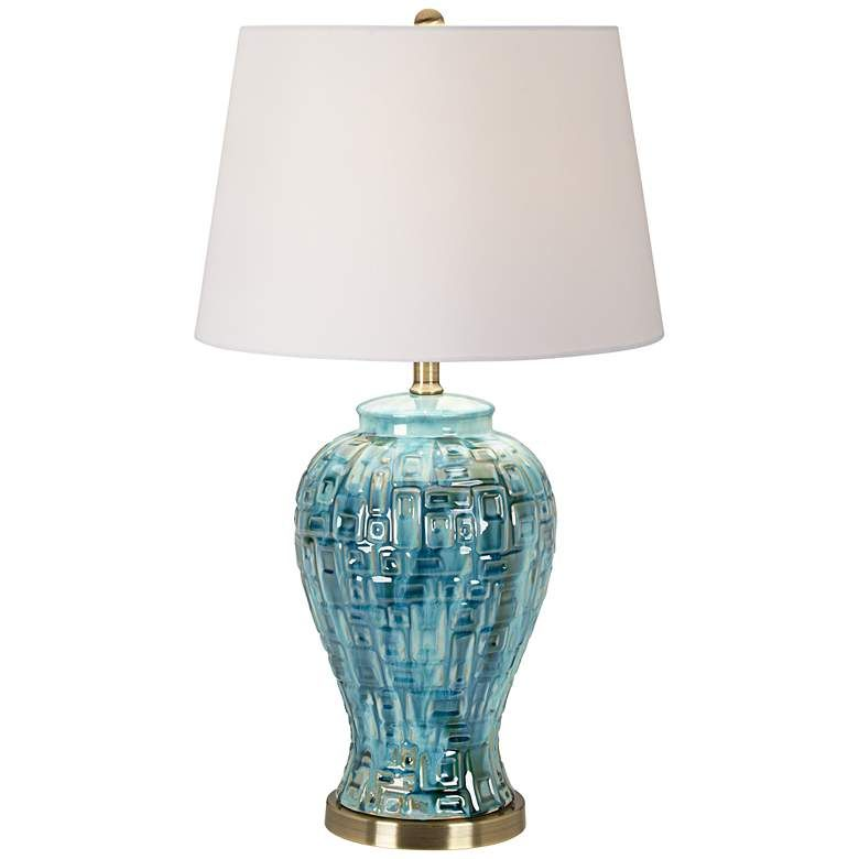 Teal Temple Jar 27 High Ceramic Table Lamp 2v366 Lamps Plus Teal Table Lamps Table Lamp Ceramic Table #teal #lamps #for #living #room