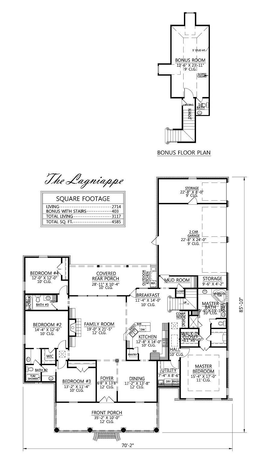 madden home design - the lagniappe 2714 sq ft | floor plans
