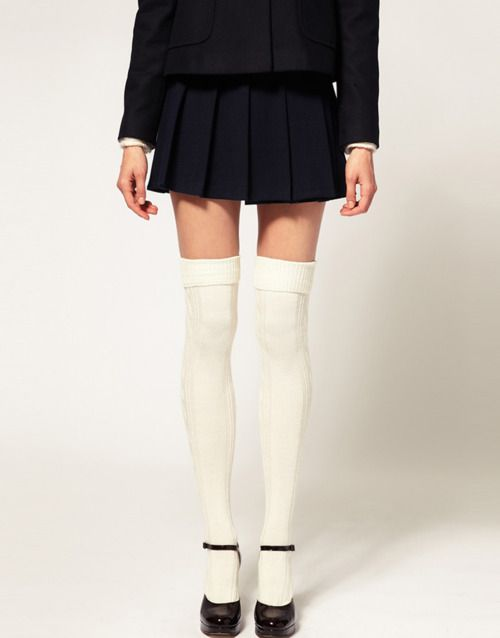 34ea1e966 white over the knee socks with mary janes
