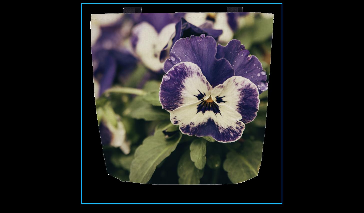 Pansy Flower Bag In 2020 Bags Pansies Flowers Flower Bag