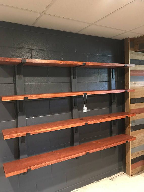 Black Metal Shelf Bracket Modern Open Kitchen Shelving Iron