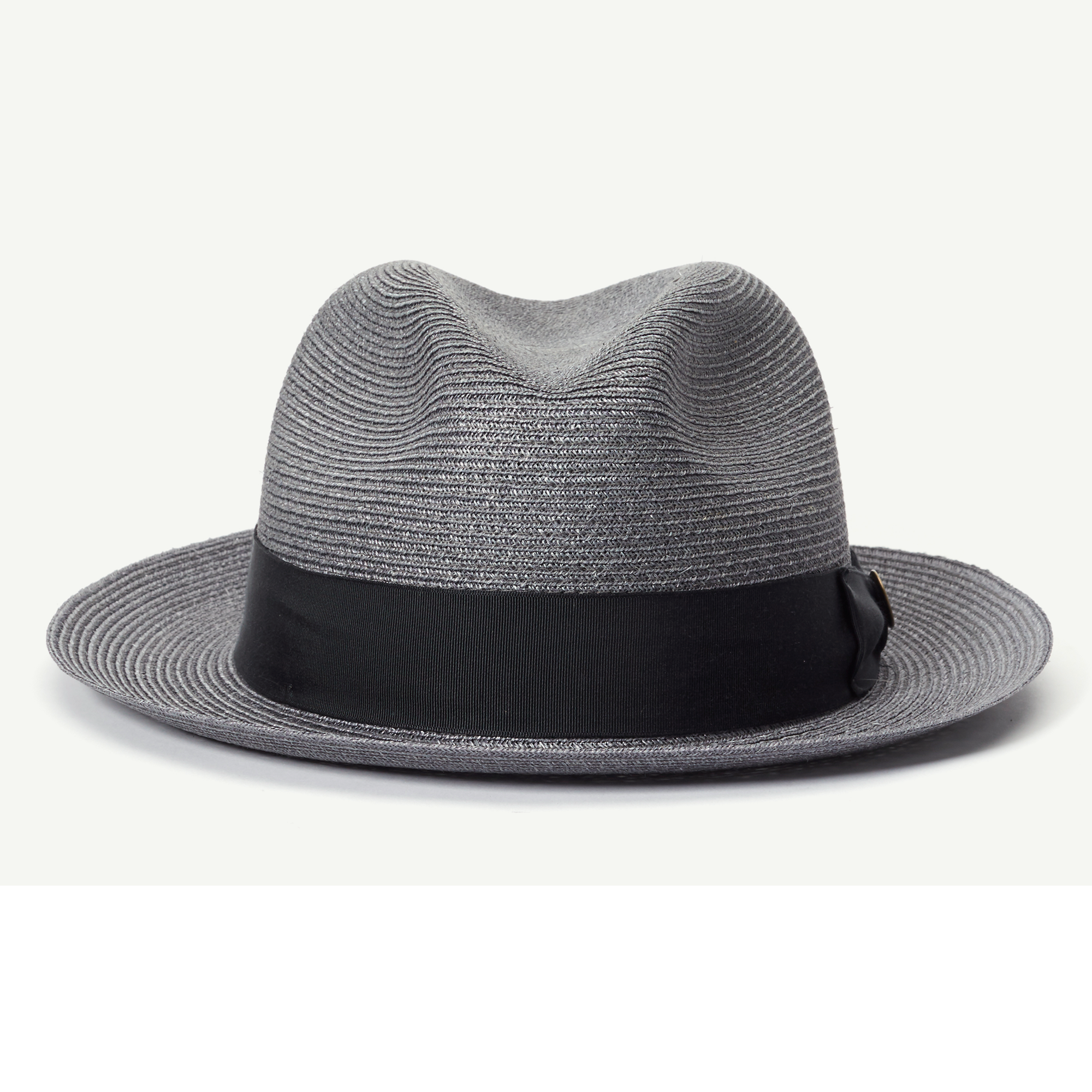 c5bea0ccee2 The Gilder Grey Straw Classic Brim Fedora hat front view