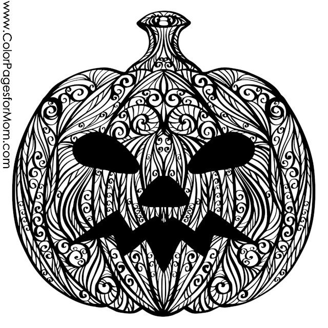 Coloring pages for adults Halloween Jack O Lantern