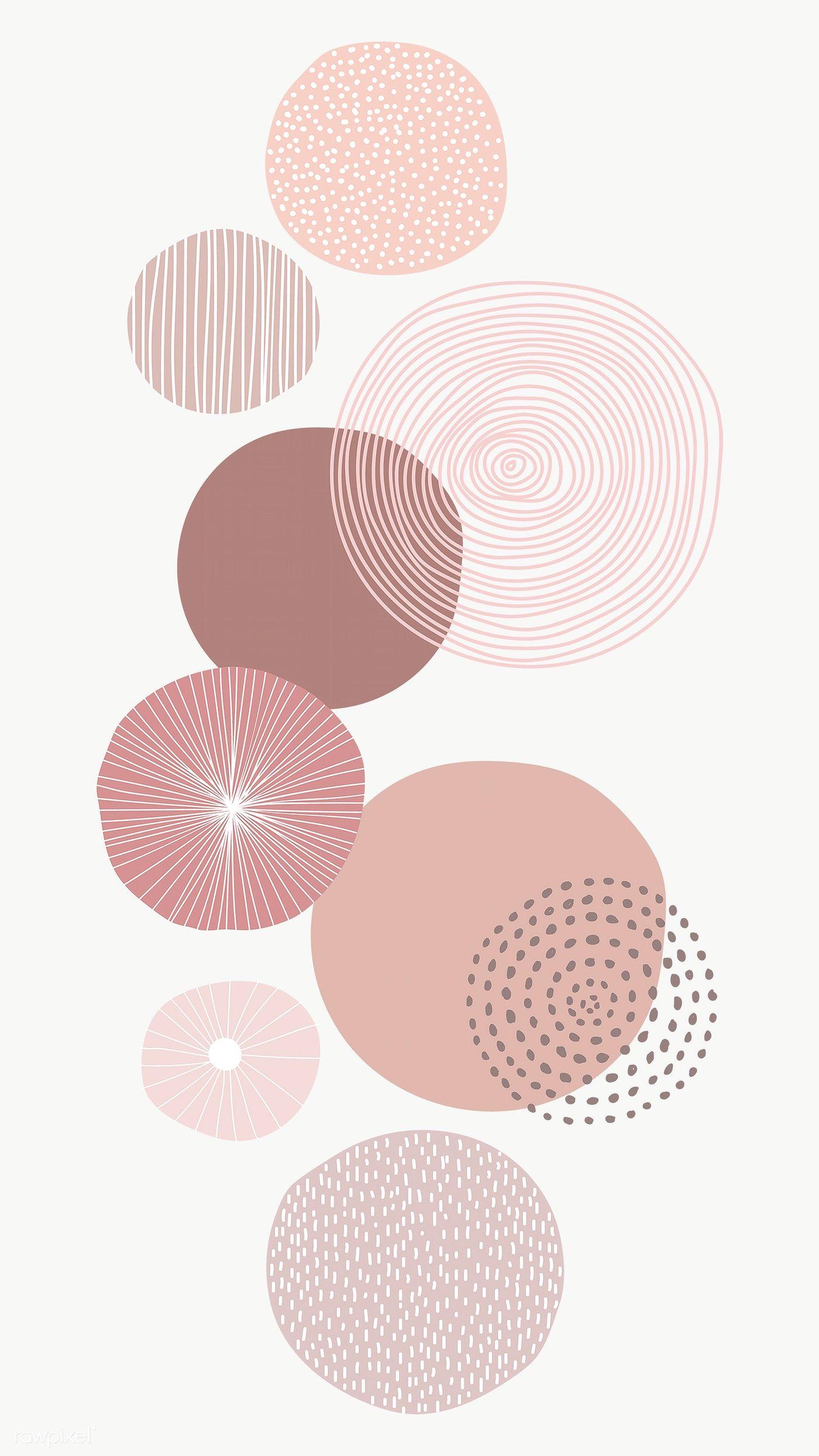 Pastel Pink Round Patterned Print Transparent Png Remix From Original Artwork Premium Geometric Art Prints Iphone Background Wallpaper Minimalist Wallpaper