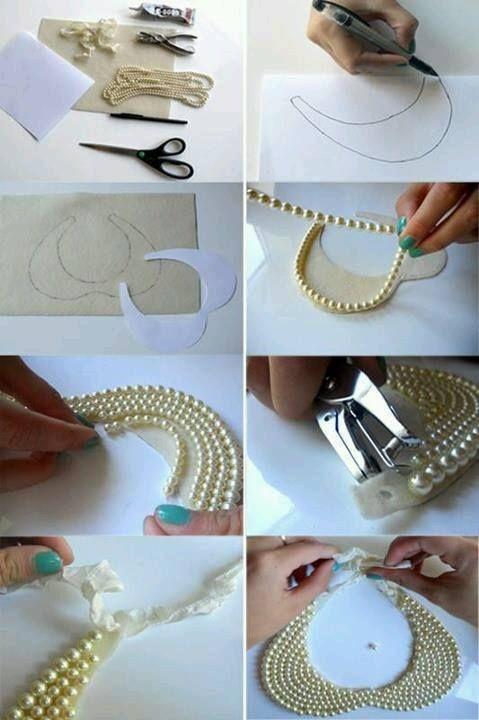 """Pra quem não encontrou o seu colar de gola lolita """"Make Yourself""""! aí vai a dica... depois disso é só usar a criatividade."""