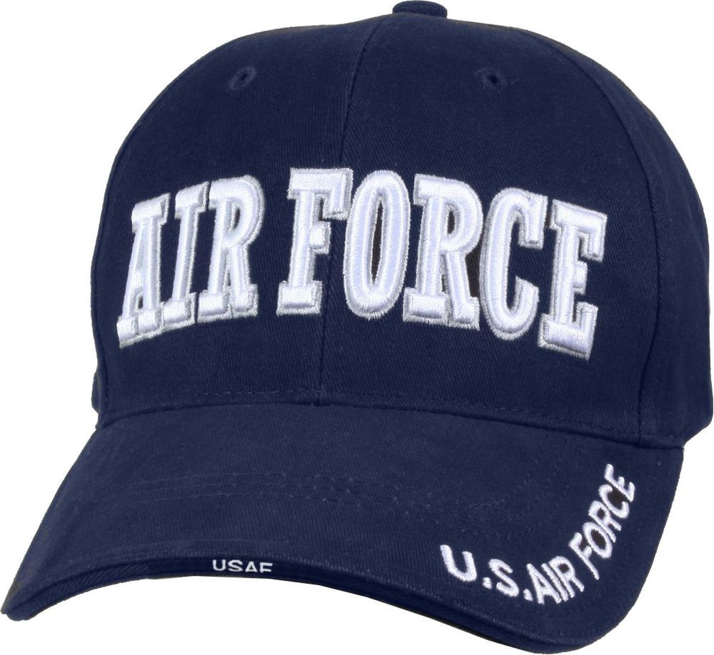 Navy Blue   White US Air Force Hat Adjustable Military Ball Cap USAF  Embroidered  Rothco  CadetMilitary 66032642fc0