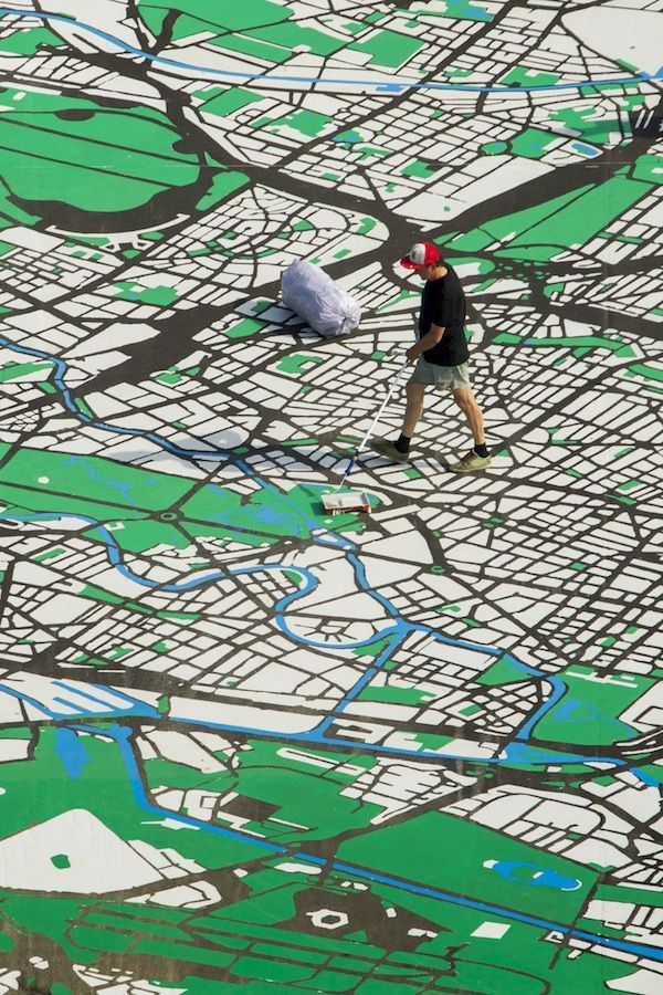 1:775 Map Installation in Berlin