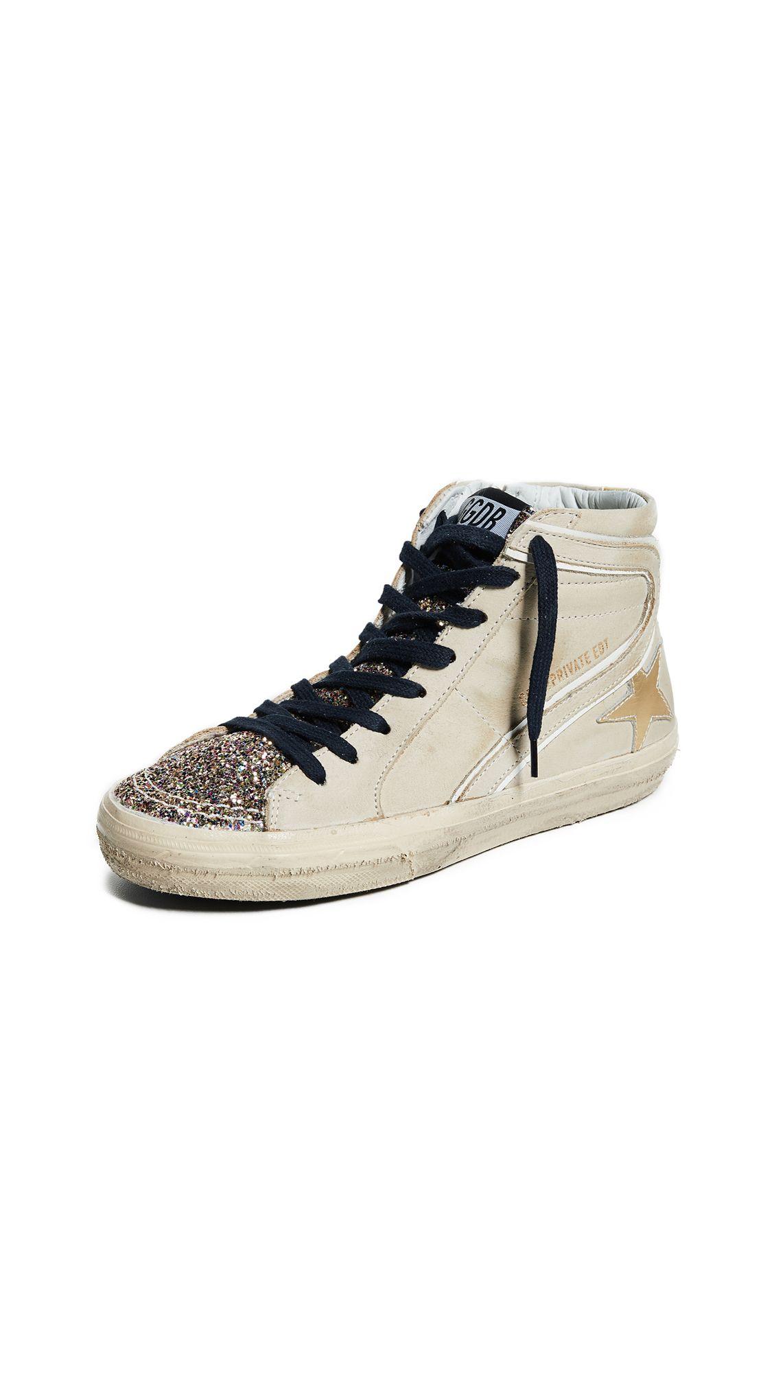 Golden Goose Slide Sneakers In Cream
