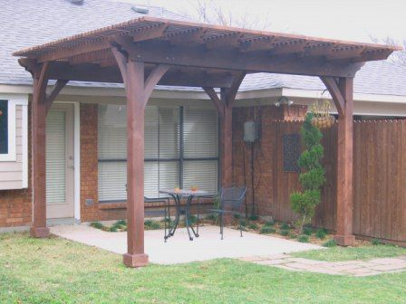 Exterior Projects Wiescamp Woodcraft Pergola Next To House But