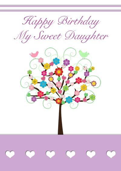graphic regarding Free Printable Birthday Cards for Daughter identified as Printable birthday card for daughter - 1 of my favorites