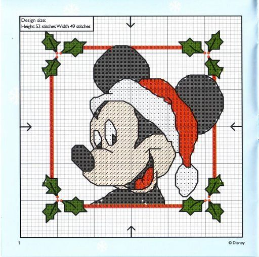 Cross Stitch: Christmas Mickey Mouse