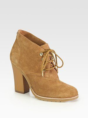 cf25405403e6 ShopStyle  MICHAEL Michael KorsElliot Suede Lace-Up Ankle Boots ...