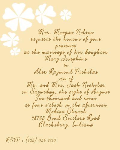 Wedding Invitation Wording Examples If Parent Deceased Wedding