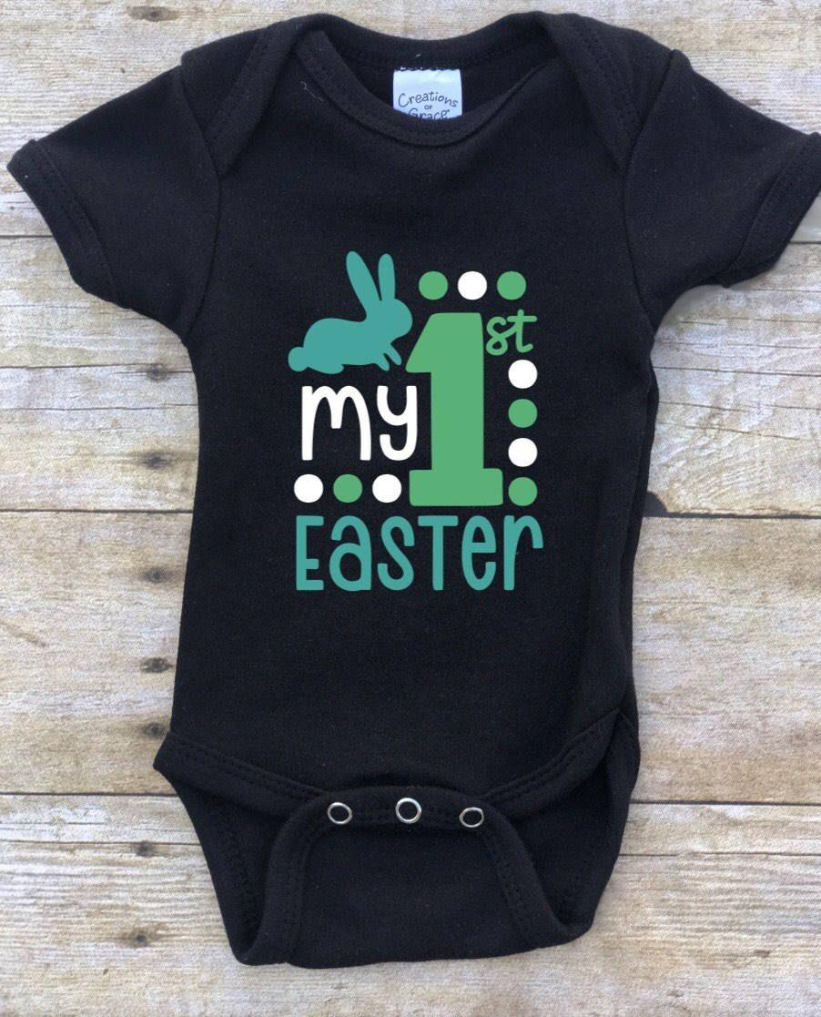 My First Easter Custom Vinyl Onesie/Baby Girl Easter ...