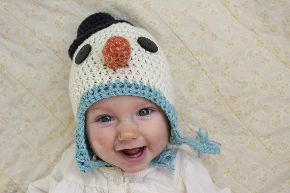 Baby Snowman Easy Crochet Hat | Pinterest